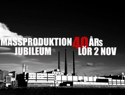Lördag 2 november + Massproduktion 40-årsjubileum