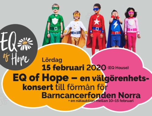 Lördag 15 februari + EQ of Hope — Välgörenhetskonsert